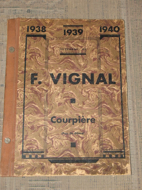 Vignal F. catalogue 1938- 1939- 1940  cycles et motos